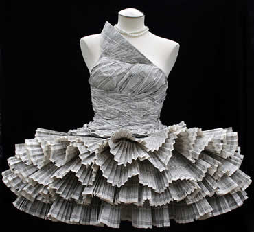 Dress Made From Paper!!!