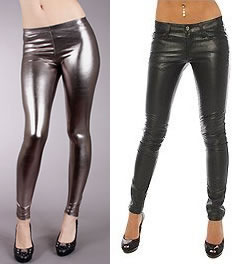 Liquid and Pleather Leggings