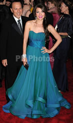 Thalia on BlueGreen Gown