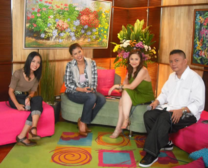 Philippine QTV 11's guesting