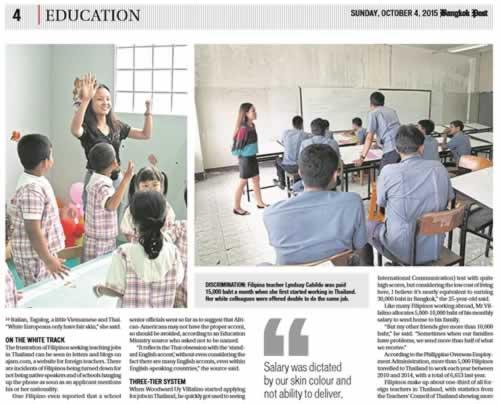 Bangkok Post Article