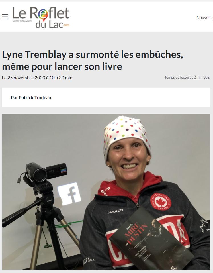 Lyne Tremblay - Lyne Tremblay a surmonté les embûches, même pour lancer son livre