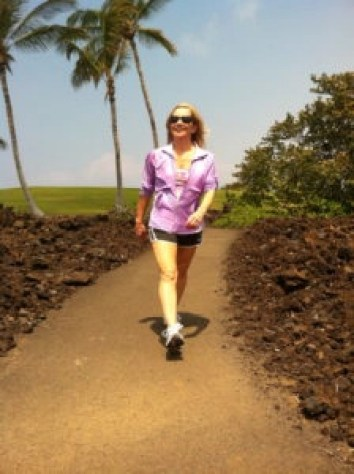 Ron turned around and caught me in this funny pose while running in Hawaii last year, such a hokey shot but the only one I had even remotely related to this post, maybe good for a laugh!