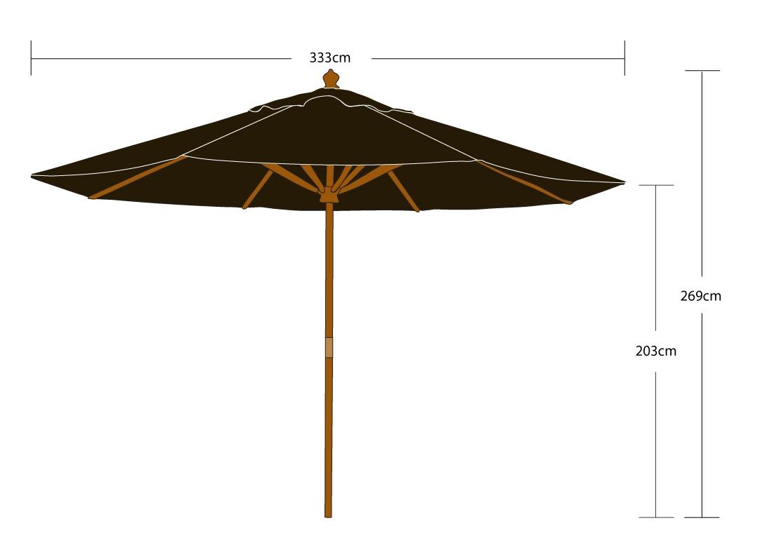 Eden Pro 3.5m Outdoor Umbrella - Danske Møbler Furniture