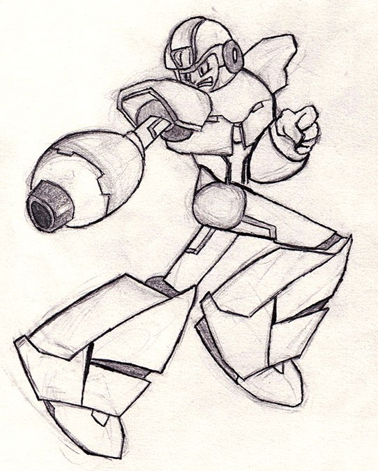 Sketch of the Day – Megaman X