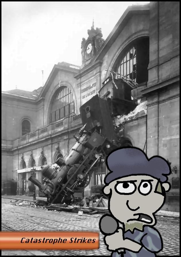 Choo Choo! Ding Ding Ding! Ka-klunk, ka-klunk…. Crash!