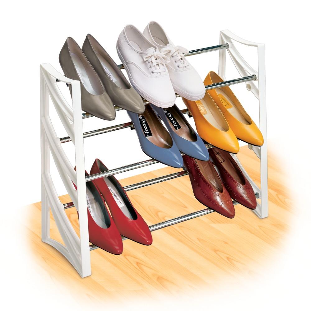 145401 convertible 9 pair shoe rack