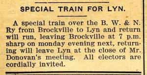 Lyn Train TBT Jan 14 1905