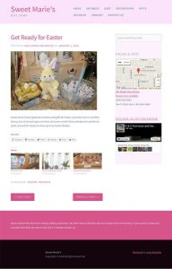 Sweet Marie's new site design