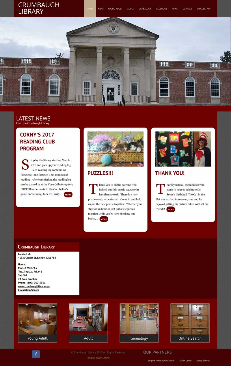 Crumbaugh Library Website