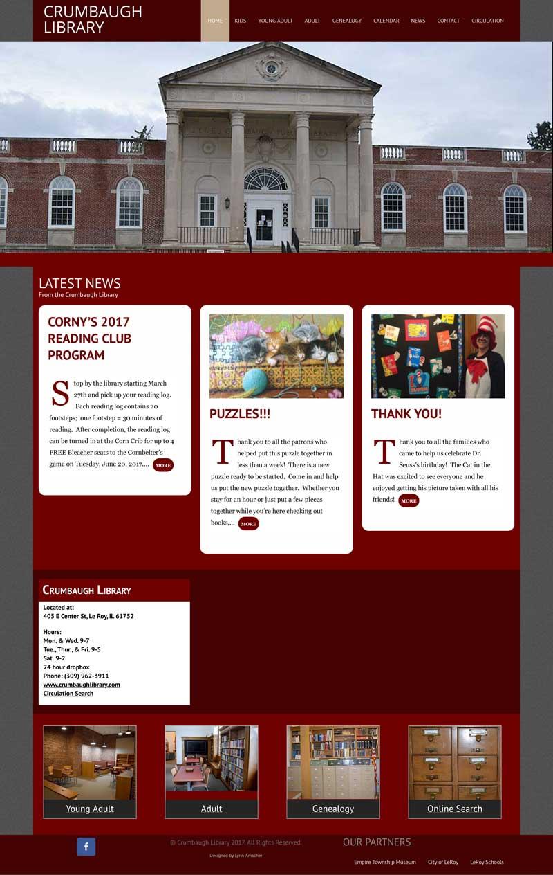 Crumbaugh Library Website