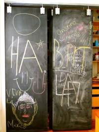 CHALK it up to childhood. DIY Chalkboard Kitchen Pantry Door