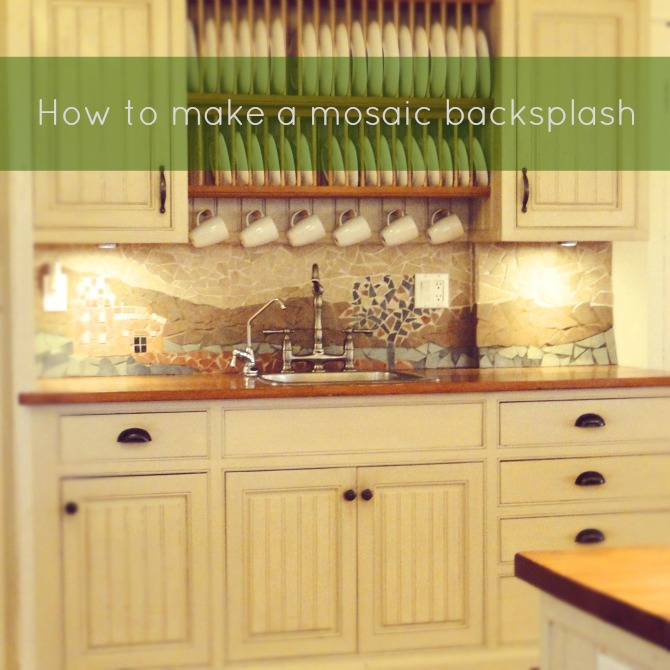 mosaic backsplash kitchen islands uk how to make a diy tutorial on by lynneknowlton