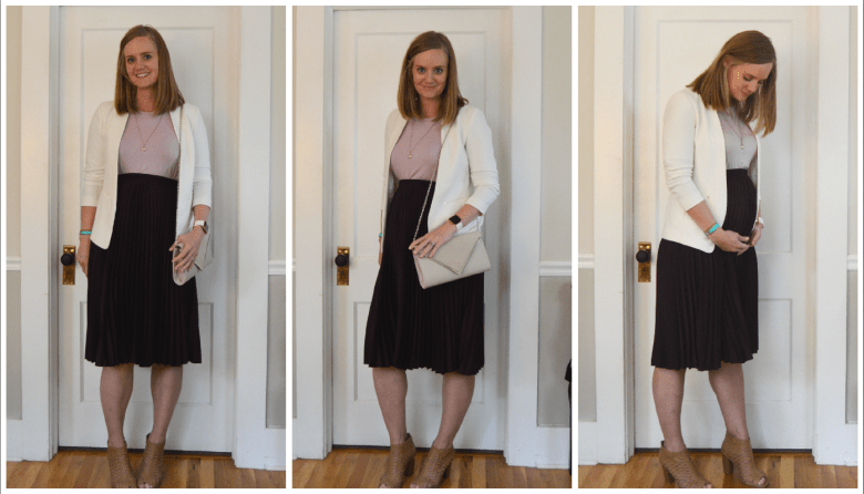 25 weeks pregnant interview outfit // lynnepetre.com