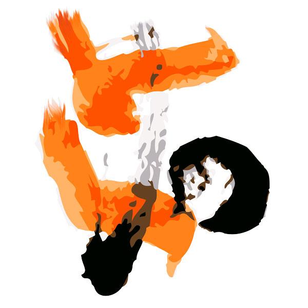 Orange Calligraphy