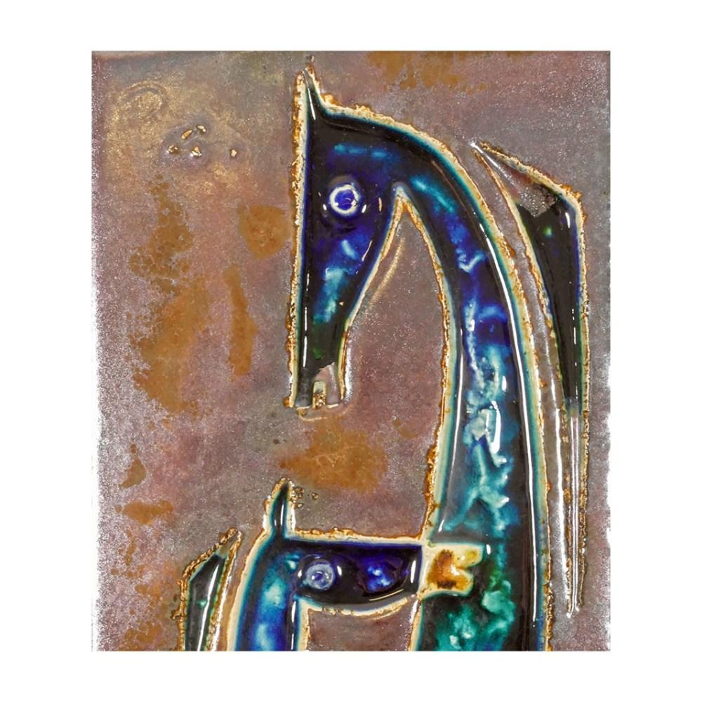 Helmut Schaffenacker Horse and Foal Plaque 227 Detail