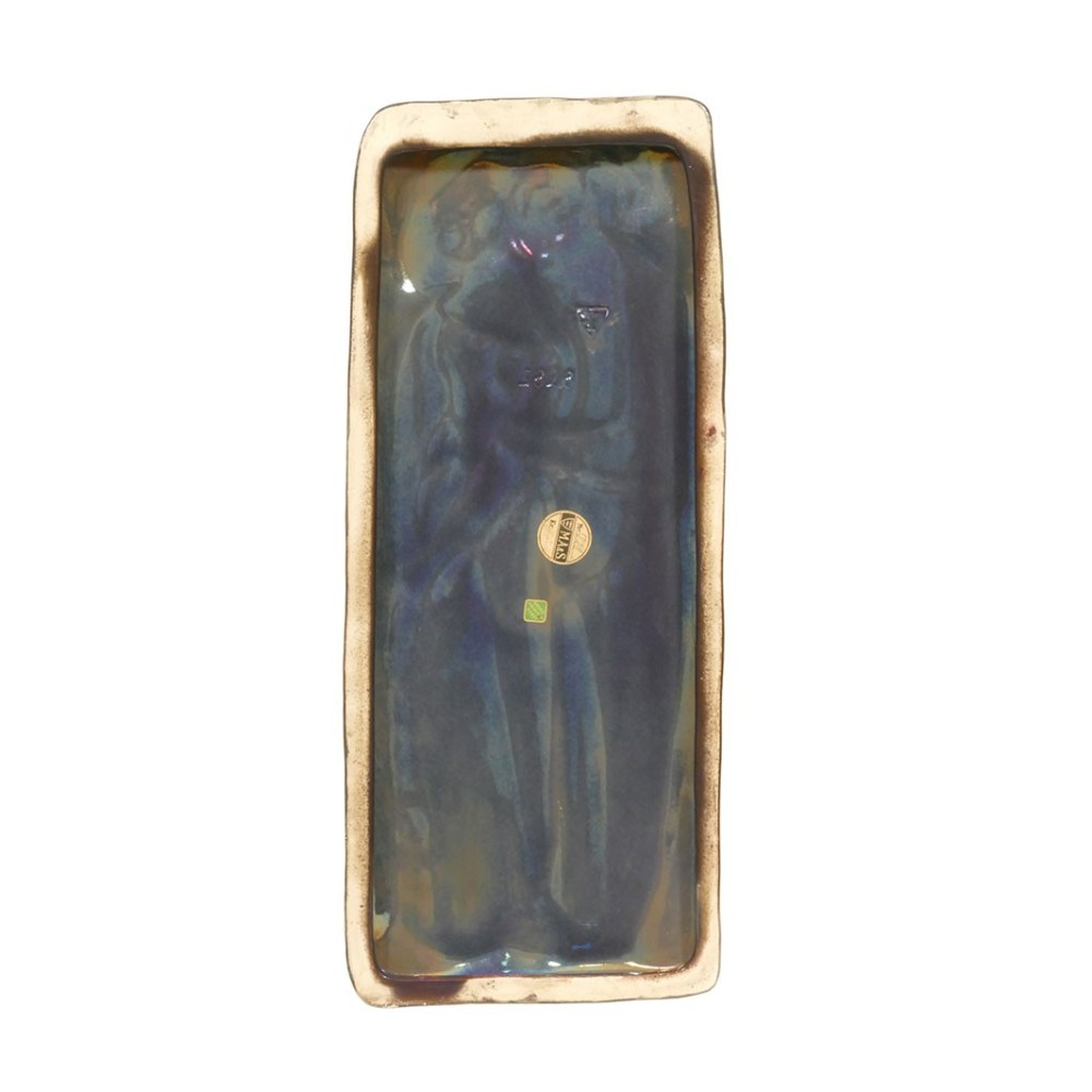 Michael Andersen and Sons Persia glaze wall plaque of couple 5828 Back