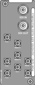 PDM 5240 U/D: 3G/HD/SD 8 Channel Embedder / De-embedder