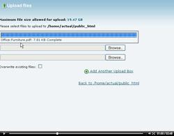 cpanel file manager upload