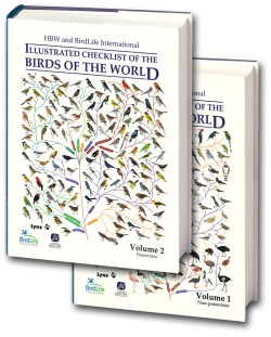 HBW and BirdLife International Illustrated Checklist of the Birds of the World. SET of TWO Volumes book cover image