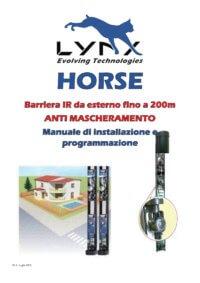 HORSE - Manuale di installazione e programmazione