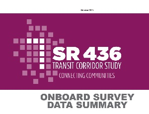 Onboard Survey Data Summary