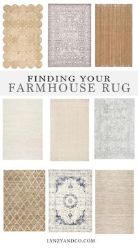Finding the Perfect Farmhouse Rug - Lynzy & Co.