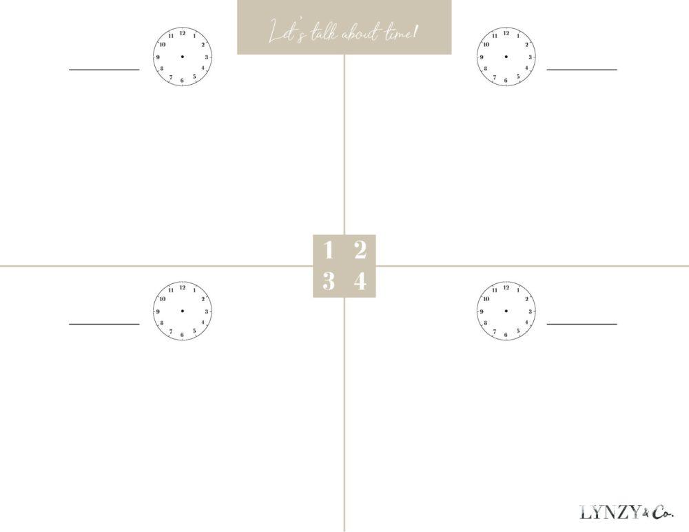 medium resolution of Printable Time Worksheets - Lynzy \u0026 Co.