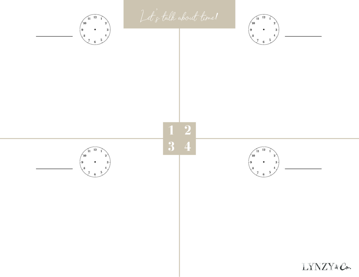 hight resolution of Printable Time Worksheets - Lynzy \u0026 Co.