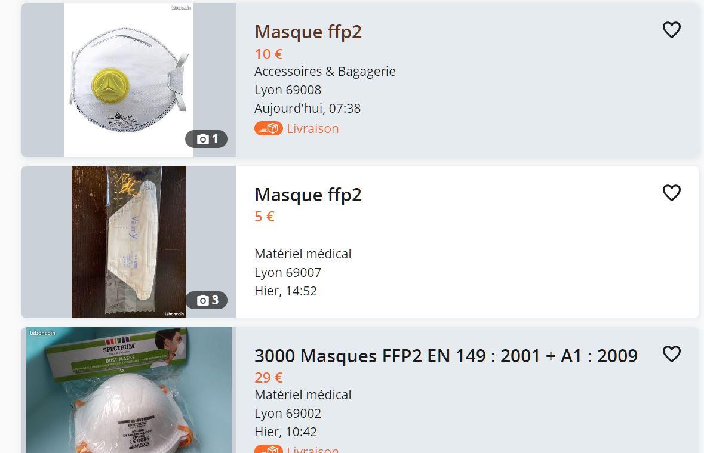 ils revendent des masques