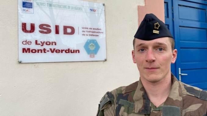 Lieutenant Luc (USID) service d'infrastructure de la Défense