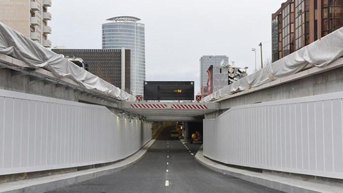 tests de sécurité sous le tunnel Vivier-Merle