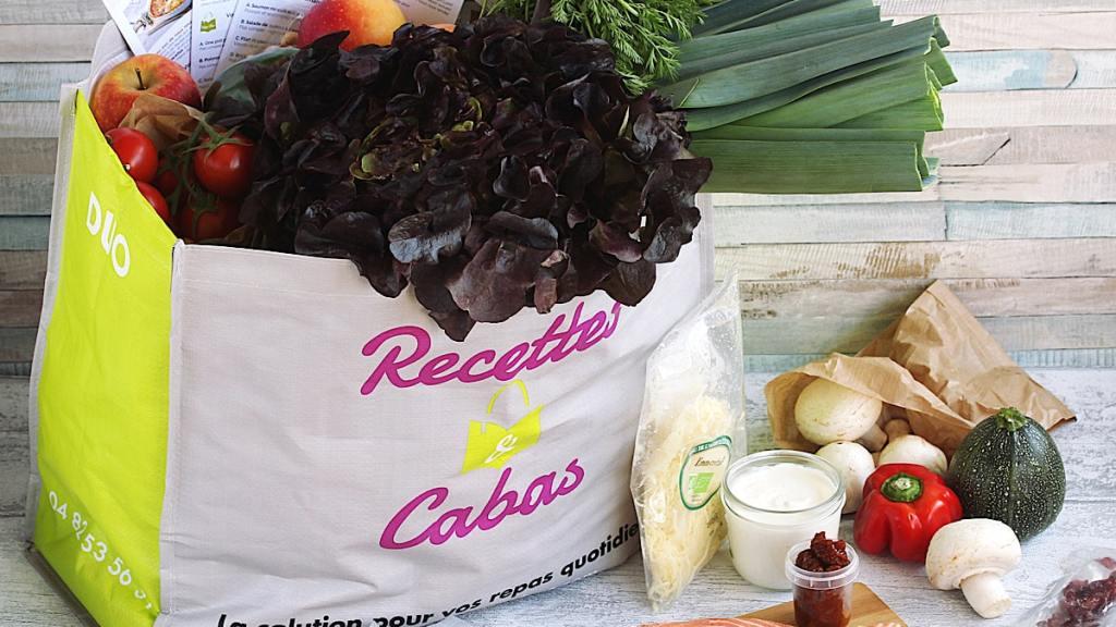 des produits frais et des recettes... la formule de Recettes et Cabas