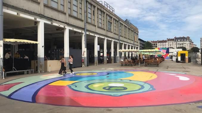 Les anciennes usines des Câbles de Lyon abritent cet été la Cité des Halles