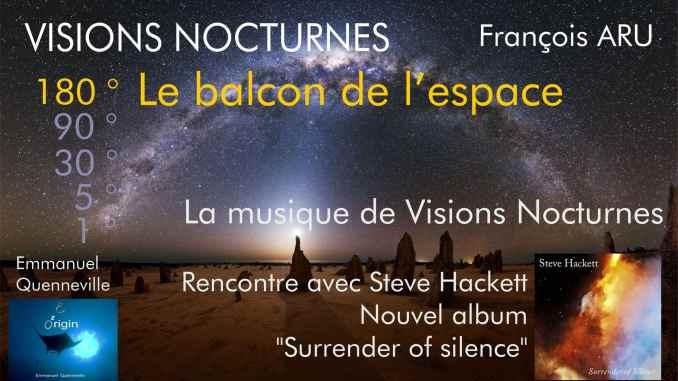 Visions Nocturnes Le Balcon de l'espace