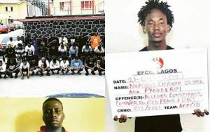 EFCC arrest Pankeeroy and 34 others