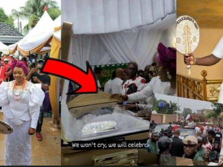 The Burial Of Obi Cubana's mother,as her children sing for her for the last time