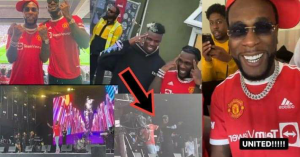 Burnaboy & Pogba Spotted At Manchester United Stadium Dancing Naija Focus Dance After Their Match
