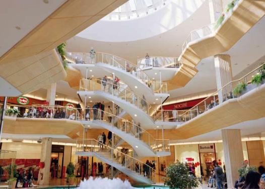 nouveaux magasins au centre commercial