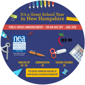 Back to School CD Label 2017 - New Hampshire circle