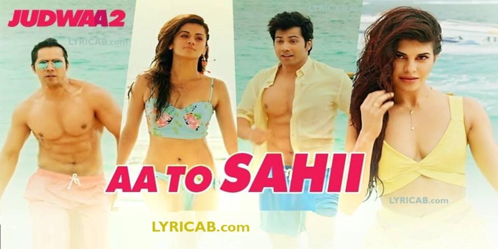 Aa to sahi song lyrics