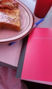 Breakfast with a side of writing