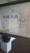 At the radio station