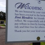 jimi hendric memorial sign
