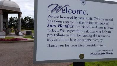 jimi hendric memorial sign