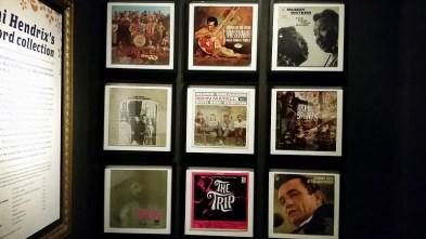 Sample of Jimi Hendrix's record collecton