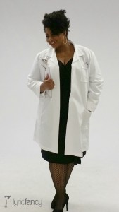lab coat and clipboard