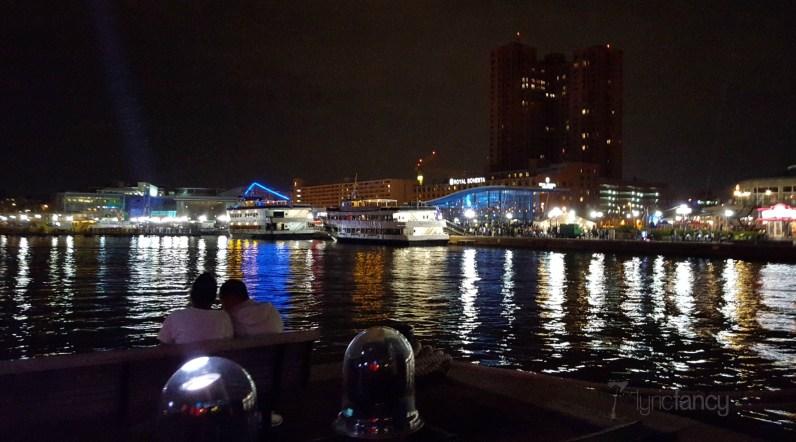 Light City Baltimore at night