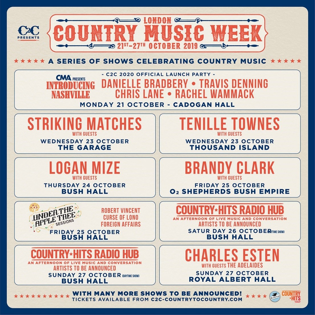 October Festival 2020.Lyricpresents Country Music Week C2c Festival 2020 Round