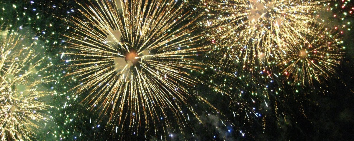 Fireworks Display - Four Gold Fireworks by National Geographic